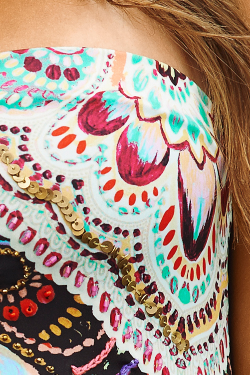 San Sebastian Embroidered One Piece DETAIL