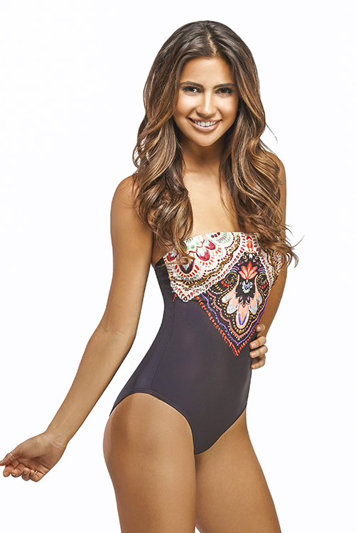 San Sebastian Embroidered One Piece SIDE