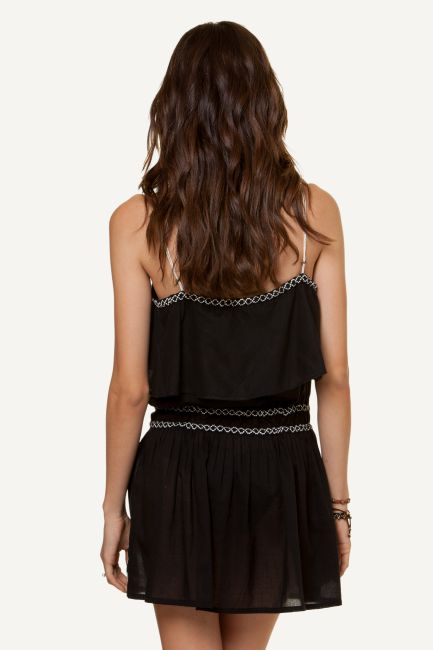 Nathalia Embroidered Short Dress BACK