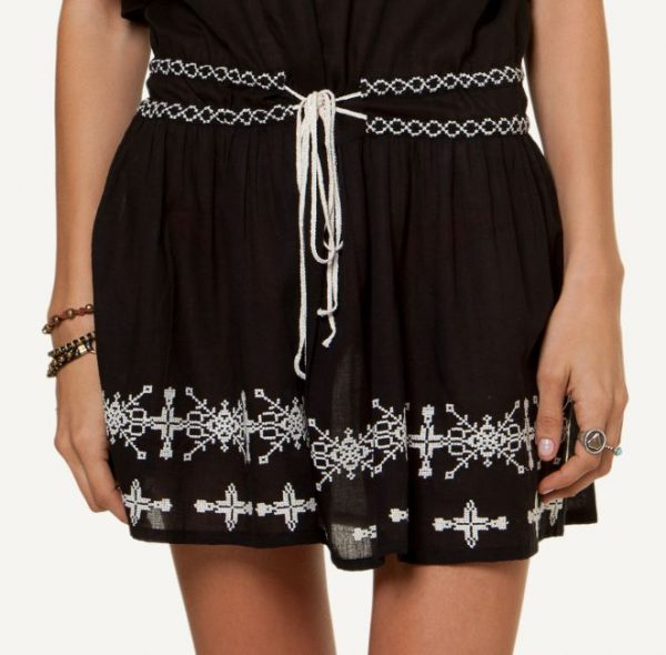 Nathalia Embroidered Short Dress DETAIL