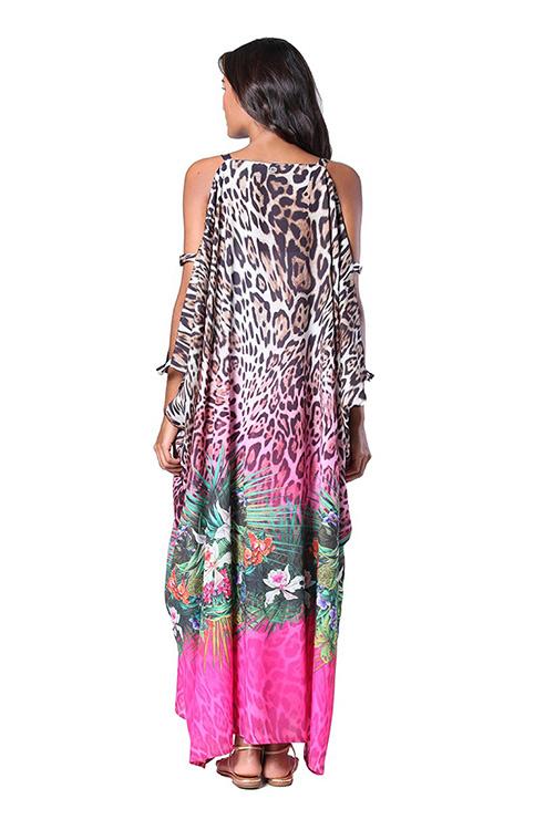 Savage Garden Kaftan Dress BACK