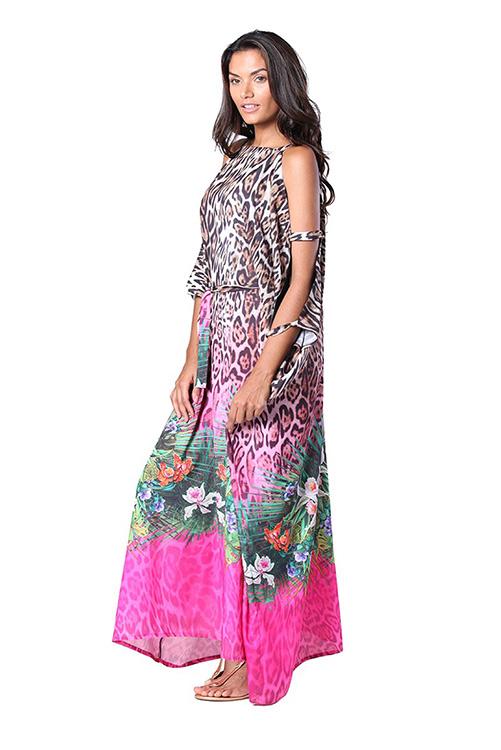 Savage Garden Kaftan Dress SIDE