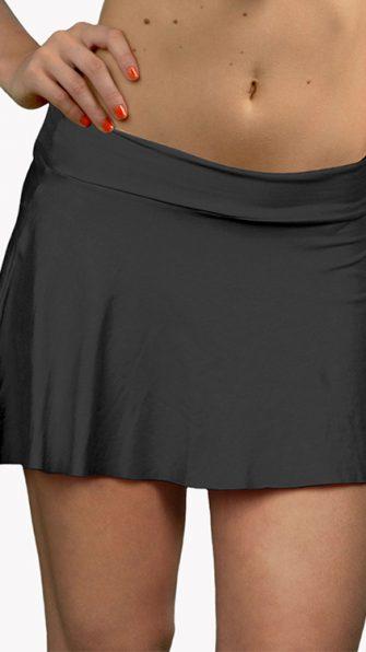 Black Mini Cover Up Skirt ALT