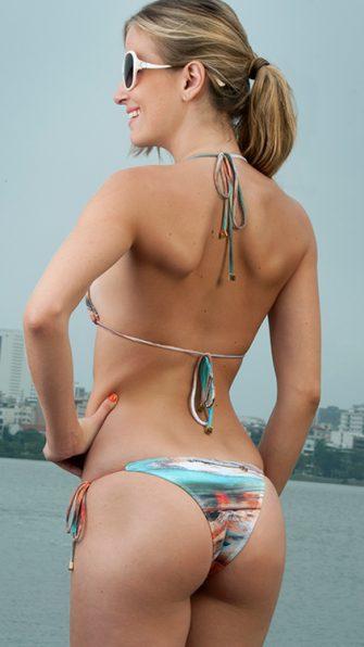 Green Paradise Bikini BACK