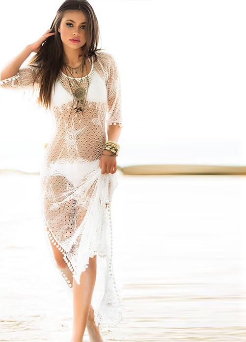 Mar de Espuma Cover Up Dress