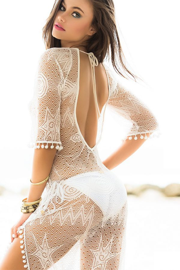 Mar de Espuma Cover Up Dress BACK