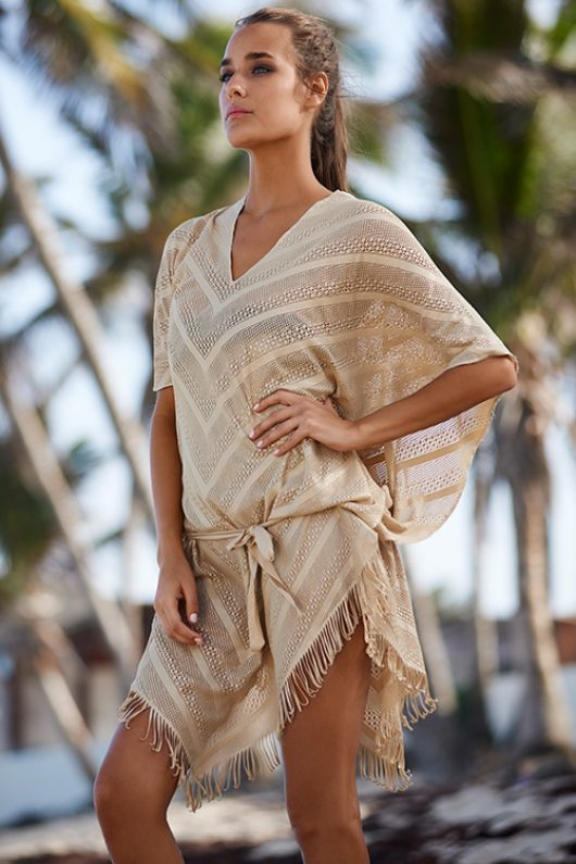 Oro Riviera Poncho Cover Up