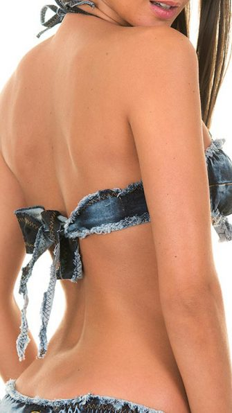 BomBom Denim Bandeau BACK