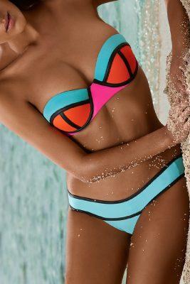 Neo Block Bandeau Banded Bottom Bikini