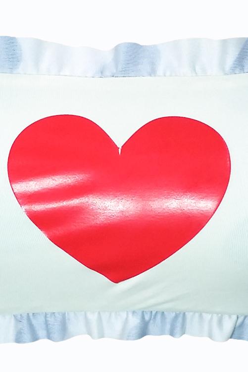 Vintage Hearts Bandeau Graphic Detail