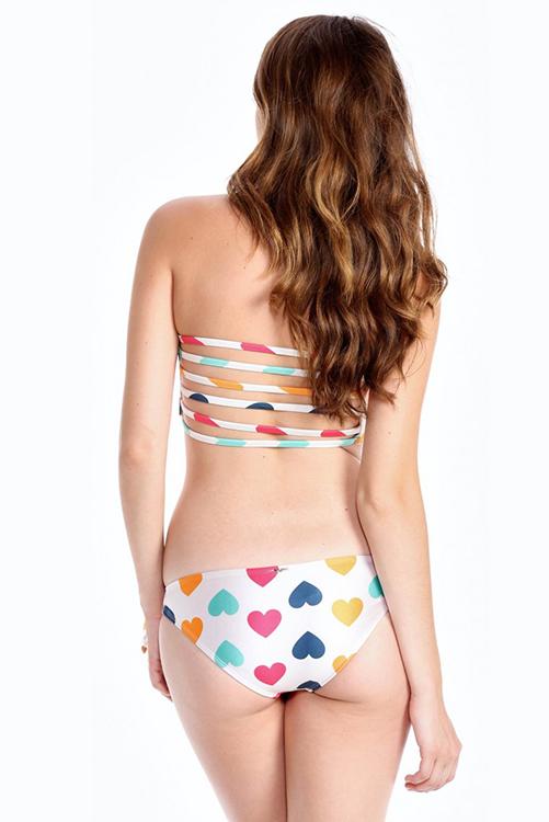 Vintage Hearts Bikini BACK