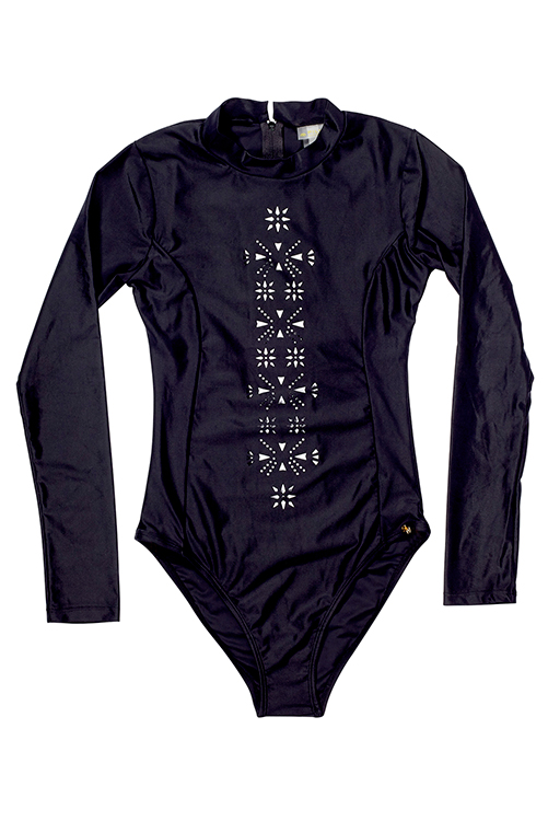Midnight Long Sleeve One Piece FLAT