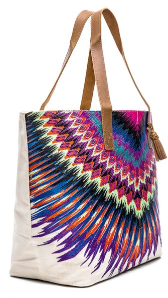 African Rays Tote SIDE