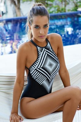 Geometric Diamond Embroidered Bodysuit ALT