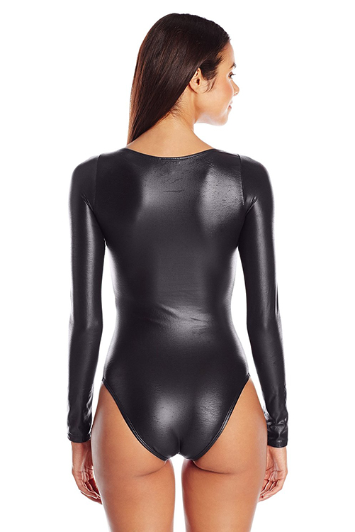 Neo Color Block Long Sleeve One Piece BACK