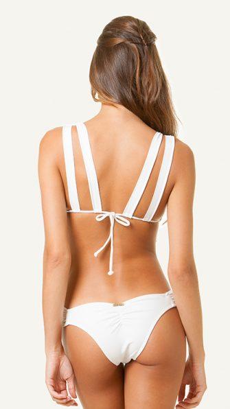 Solid White Eyelet Bikini BACK