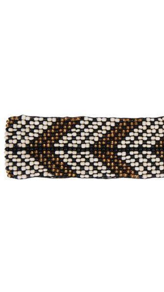 Feather Black Elastic Belt DETAIL