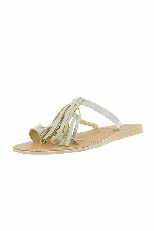 Fringe Sandal Ivory SIDE