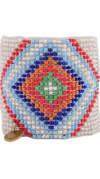 White Aztec Bracelet