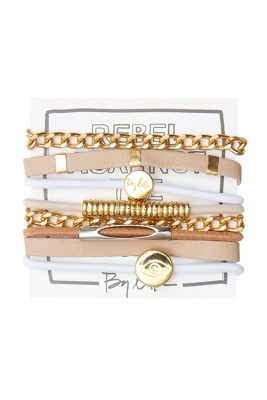 Hey Mister Tamborine Man Bracelet Hairband Stack