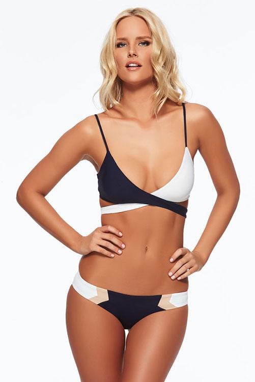 Midnight Blocked Chloe Wrap Barracuda Bottom Bikini