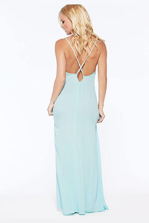 Sea Glass Moonlight Maxi Dress BACK