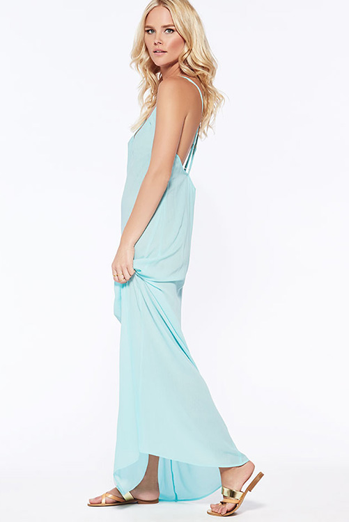 Sea Glass Moonlight Maxi Dress SIDE