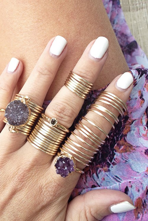 Kami Lerner Gold Full Finger Wrap Ring ALT2