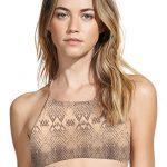 Snake Skin High Neck Halter Top