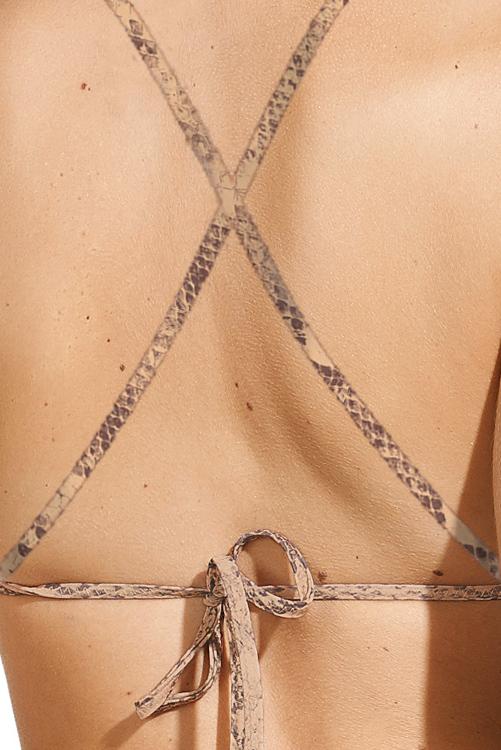 Skin High Neck Halter Top BACK DETAIL