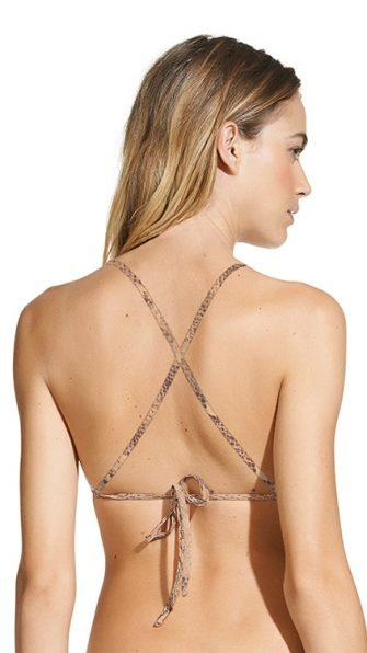 Skin High Neck Halter Top BACK
