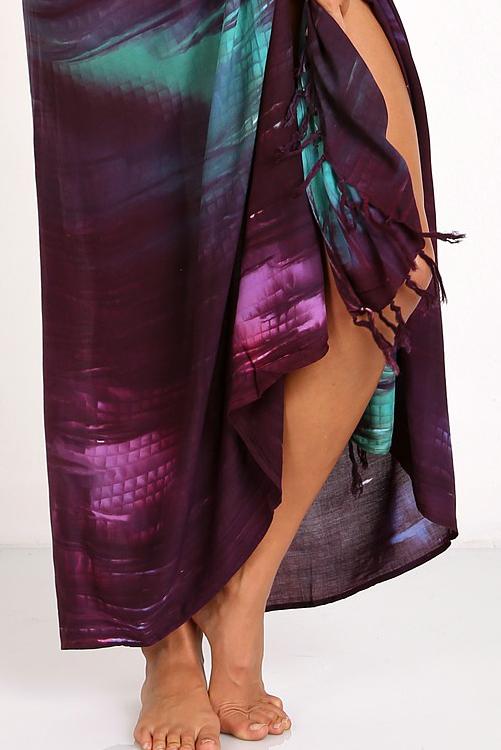 Cosmic Tie Dye Kanga Sarong By Indah Rio Bum