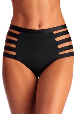 Black Ecolux Neutra High Waist Bottom