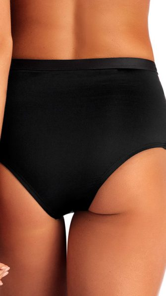 Black Ecolux Neutra High Waist Bottom BACK