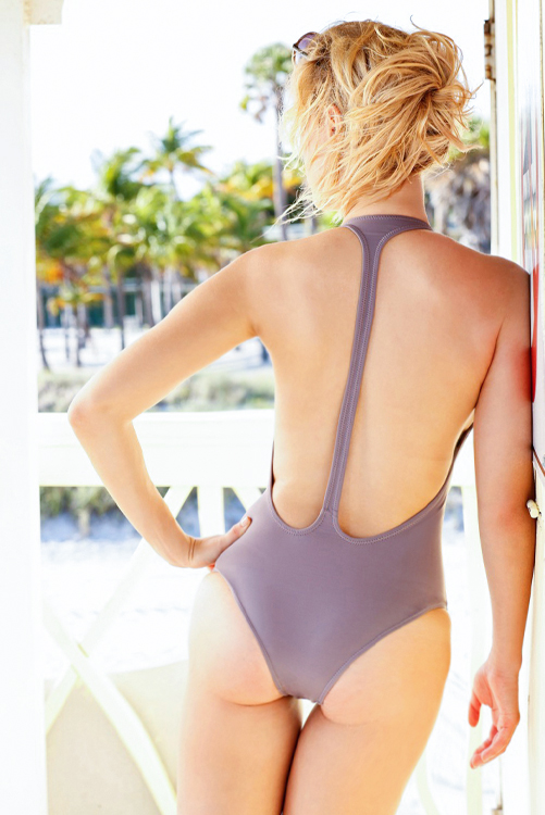 Pebble Flamingo One Piece BACK