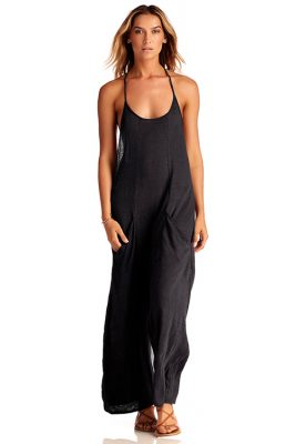 Solid Black Gemini Jumpsuit