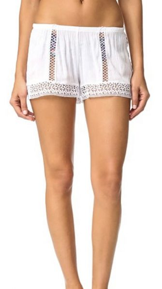 Peixoto Parrot Shorts in White FRONT