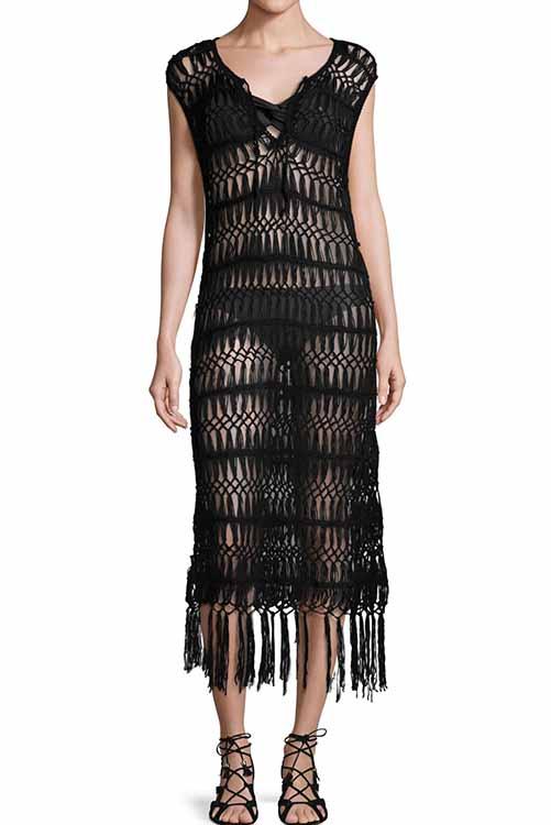 Midnight Raven Crochet Tunic Dress ALT