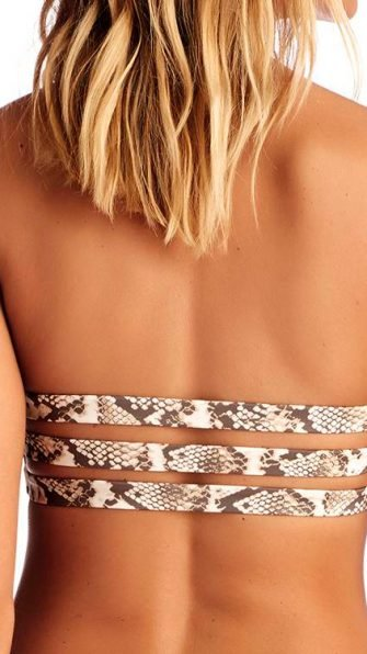 Serpentine Camila Cross Neck Top BACK