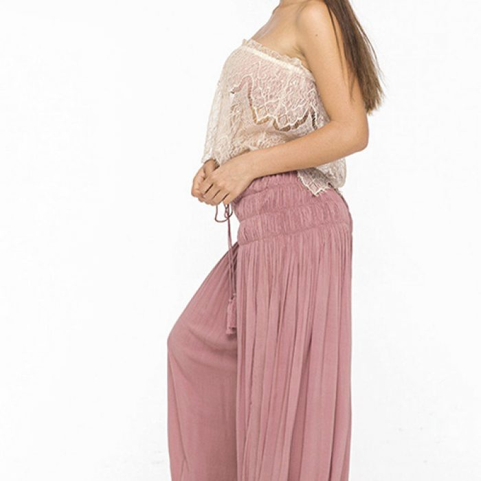 Desert Star Antique Lace Top Dusty Rose Heron Pant SIDE