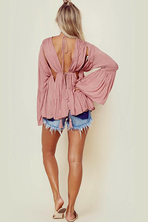 Dusty Rose Diego Blouse BACK