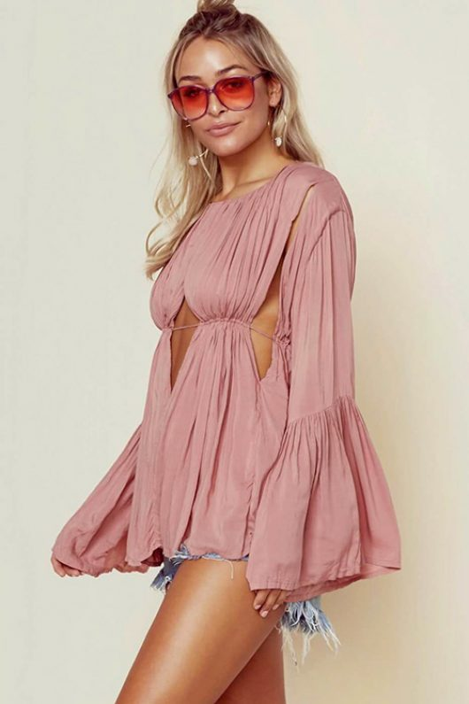 Dusty Rose Diego Blouse SIDE