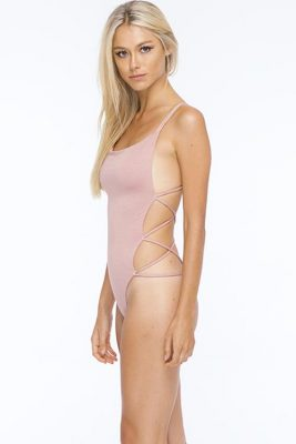 Dusty Rose Whip Cream Bodysuit SIDE