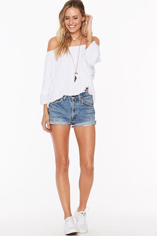 Solid White Renegade Top LIF