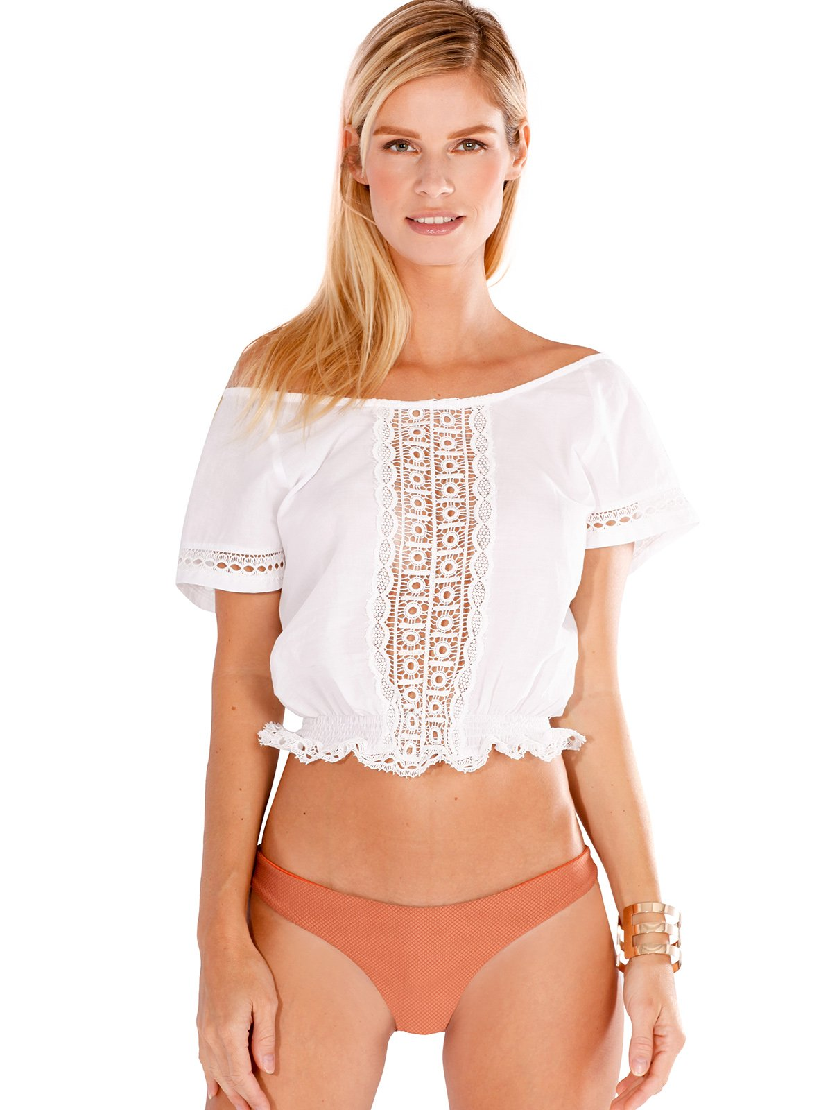 Mia Crop Top in Solid White