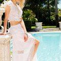 Mia Crop Top Maxi Skirt Set