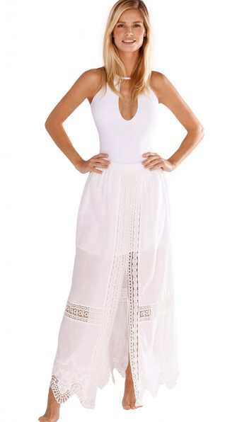 Mia Maxi Skirt in Solid White