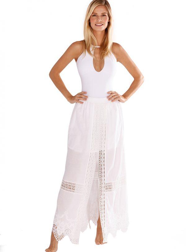 Mia Maxi Skirt in Solid White