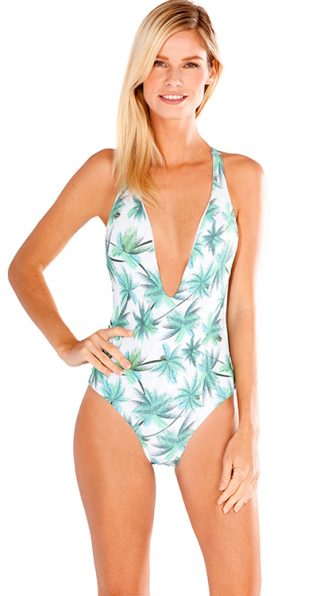 Palm Island Flamingo One Piece