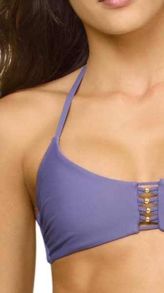 Amethyst Braided Zen Halter Top DETAIL